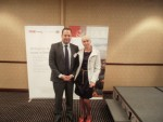 Ms Irena Ksenofontova with Poti Free Industrial Zone Senior Manager Ioseb Nibladze